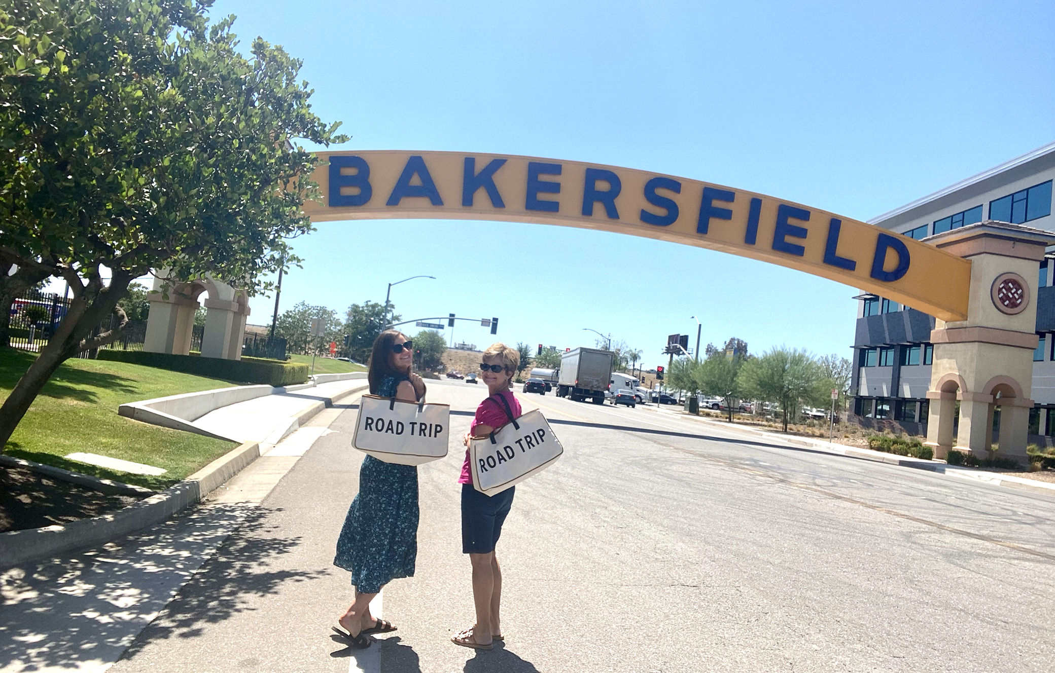 Cici and her mom in Bakersfield